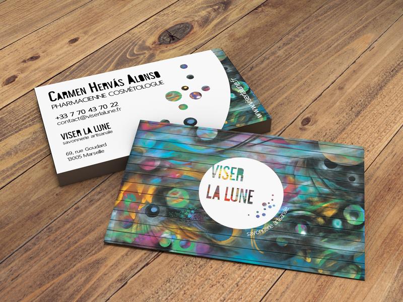 Projet VISER LA LUNE - Carte de Visite